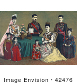 #42476 Royalty-Free (RF) Stock Illustration of Meiji, The Emperor Of Japan And The Imperial Family by JVPD
