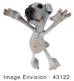 #43122 Royalty-Free (Rf) Clipart Illustration Of A 3d Jack Russell Terrier Dog Mascot Dancing - Pose 3