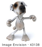#43138 Royalty-Free (Rf) Clipart Illustration Of A 3d Jack Russell Terrier Dog Mascot Dancing - Pose 2