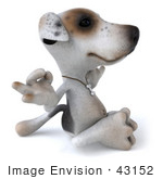 #43152 Royalty-Free (Rf) Clipart Illustration Of A 3d Jack Russell Terrier Dog Mascot Meditating - Pose 2