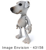 #43158 Royalty-Free (Rf) Clipart Illustration Of A 3d Jack Russell Terrier Dog Mascot Standing And Facing Left