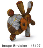 #43197 Royalty-Free (Rf) Illustration Of A 3d Knitted Teddy Bear Mascot Doing A Cartwheel - Version 2