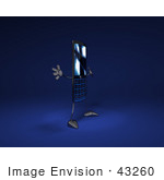 #43260 Royalty-Free (Rf) Illustration Of A Slim 3d Cellphone Holding Its Arms Out - Version 4