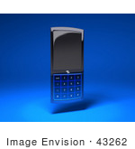 #43262 Royalty-Free (Rf) Illustration Of A 3d Modern Blue Cell Phone - Version 3