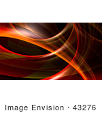 #43276 Royalty-Free (Rf) Illustration Of A Red And Orange Fractal Swoosh Background - Version 3