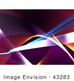 #43283 Royalty-Free (Rf) Illustration Of An Abstract Swoosh Background - Version 4