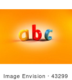 #43299 Royalty-Free (Rf) Clipart Illustration Of Colorful 3d Abc Letters Against Orange Background