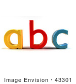 #43301 Royalty-Free (Rf) Clipart Illustration Of A Yellow A Red B And Blue C In 3d Angle 1