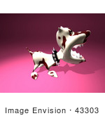 #43303 Royalty-Free (Rf) Illustration Of A Mean 3d Dog Wearing A Spiked Collar - Version 4