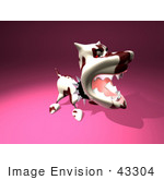 #43304 Royalty-Free (Rf) Illustration Of A Mean 3d Dog Wearing A Spiked Collar - Version 5