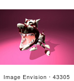 #43305 Royalty-Free (Rf) Illustration Of A Mean 3d Dog Wearing A Spiked Collar - Version 1