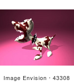 #43308 Royalty-Free (Rf) Illustration Of A Mean 3d Dog Wearing A Spiked Collar - Version 3