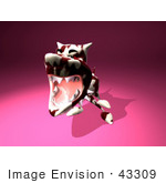 #43309 Royalty-Free (Rf) Illustration Of A Mean 3d Dog Wearing A Spiked Collar - Version 7
