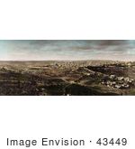 #43449 Rf Stock Photo Of A Distant Panoramic View Of Jerusalem Israel