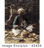#43454 Rf Stock Photo Of An Arab Carpenter Man Smiling And Posing While Making Plows