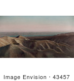#43457 Rf Stock Photo Of A View Of Dunes And The Dead Sea In Jordan Israel