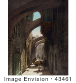 #43461 Rf Stock Photo Of A Street Scene Of Via Dolorosa Jerusalem Israel