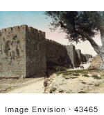 #43465 Rf Stock Photo Of The Fortified City Walls Of Jerusalem Israel