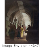 #43471 Rf Stock Photo Of Light Shining Down On Shoppers In A Jerusalem Market Israel