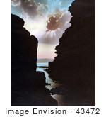 #43472 Rf Stock Photo Of The Sun Shining Behind Clouds Over The Ravine Of The River Arnon Jordan