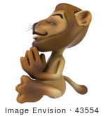 #43554 Royalty-Free (Rf) Illustration Of A 3d Lion Mascot Meditating - Pose 4