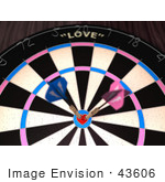 #43606 Royalty-Free (Rf) Illustration Of A Dartboard With Darts - Version 4