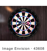 #43608 Royalty-Free (Rf) Illustration Of A Dartboard With Darts - Version 3