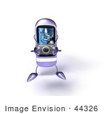 #44326 Royalty-Free (Rf) Illustration Of A Rounded 3d Mp3 Player Taking Pics With A Camera