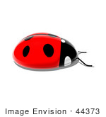#44373 Royalty-Free (Rf) Illustration Of A 3d Shiny Ladybug - Pose 4