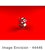 #44446 Royalty-Free (Rf) Illustration Of A 3d Devil Red Dollar Symbol With Horns - Version 2