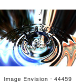 #44459 Royalty-Free (Rf) Illustration Of A Reflective Water Drop And Ripple Background