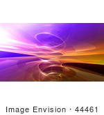 #44461 Royalty-Free (Rf) Illustration Of A Background Of A Circling Purple And Orange Fractal Reflection