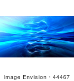 #44467 Royalty-Free (Rf) Illustration Of A Background Of A Circling Blue Fractal Reflection