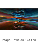 #44473 Royalty-Free (Rf) Illustration Of A Background Of A Circling Blue And Orange Fractal Reflection
