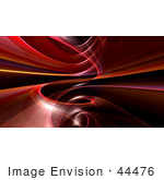 #44476 Royalty-Free (Rf) Illustration Of A Background Of Red And Orange Spiraling Fractals On Black - Version 2