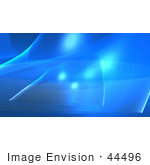 #44496 Royalty-Free (Rf) Illustration Of A Blue Wispy Wave Background - Version 1