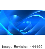 #44499 Royalty-Free (Rf) Illustration Of A Blue Wispy Wave Background - Version 4