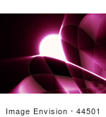 #44501 Royalty-Free (Rf) Illustration Of A Pink Grid And Swoosh Background On Black