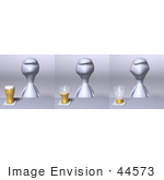 #44573 Royalty-Free (Rf) Illustration Of A 3d Human Like Character Shown In Three Drinking Stages