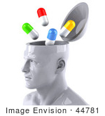 #44781 Royalty-Free (Rf) Illustration Of A Creative 3d White Man Character With A Drug Addiction - Version 2