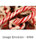 #4599 Candy Cane and Chocolate Pretzels by Jamie Voetsch