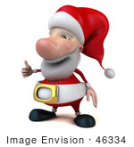 #46334 Royalty-Free (Rf) Illustration Of A 3d Big Nose Santa Mascot Giving The Thumbs Up - Version 2