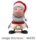 #46335 Royalty-Free (Rf) Illustration Of A 3d Big Nose Santa Mascot Facing Front- Version 1