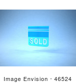 #46524 Royalty-Free (Rf) Illustration Of A Blue 3d Sold Sign Floating - Version 2