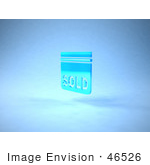 #46526 Royalty-Free (Rf) Illustration Of A Blue 3d Sold Sign Floating - Version 3
