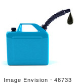 #46733 Royalty-Free (Rf) Illustration Of A 3d Blue Gas Can Dripping Fuel