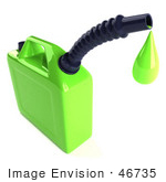#46735 Royalty-Free (Rf) Illustration Of A 3d Green Gas Can Dripping Oil