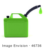 #46736 Royalty-Free (Rf) Illustration Of A 3d Green Gas Can Dripping Fuel