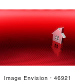 #46921 Royalty-Free (Rf) Illustration Of A 3d Chrome House With Windows - Version 12