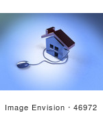 #46972 Royalty-Free (Rf) Illustration Of A 3d Home Icon With A Computer Mouse - Version 3